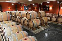 barrel aging cellar clos des quatre vents margaux medoc bordeaux france