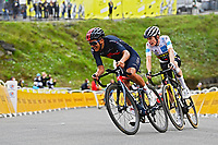 15th July 2021; Luz Ardiden, Hautes-Pyrénées department, France;  CARAPAZ Richard (ECU) of INEOS GRENADIERS and VINGEGAARD Jonas (DEN) of JUMBO-VISMA during stage 18 of the 108th edition of the 2021 Tour de France cycling race, a stage of 129,7 kms between Pau and Luz Ardiden.