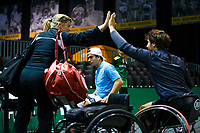 Rotterdam, The Netherlands, 11 Februari 2020, ABNAMRO World Tennis Tournament, Ahoy, <br /> Wheelchair tennis: Daniel Caverzaschi/ Martin De La Puente (ESP)<br /> Photo: www.tennisimages.com