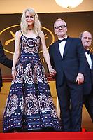 Nicole Kidman avec Thierry FREMEAUX et Pierre LESCURE sur le tapis rouge pour la soirée dans le cadre de la journée anniversaire de la 70e édition du Festival du Film à Cannes, Palais des Festivals et des Congres, Cannes, Sud de la France, mardi 23 mai 2017.