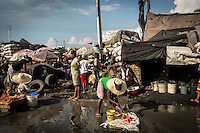 """Hurricane Matthew aftermath in Jeremie, a 30,000 people town destroyed by the phenomena. Abnout  900 people resulted killed  in Haiti by the Hurricane Matthew,  thousands are  homeless.<br /> The poorest country in the Western Hemisphere has never completely recovered from a devastating earthquake in 2010.<br /> The Haitian town of Jeremie with a population of 30,000 """"is completely destroyed,"""" said Care Haiti director Jean-Michel Vigreux.<br /> The United Nations said nearly 6 million Haitians have been affected by the storm with 350,000 people still needing immediate aid. Cholera outbreak is a major problem right now."""