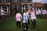 Goathland Plough Stots, Goathland North Yorkshire England Sword dance performance. 1980s UK