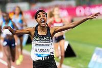 Sifan Hassan NED (r)  <br /> 1500m Women <br /> Roma 08-06-2017 Stadio Olimpico <br /> Iaaf Diamond League Golden Gala <br /> Meeting Atletica Leggera - Track and Fields <br /> Foto Andrea Staccioli / Insidefoto