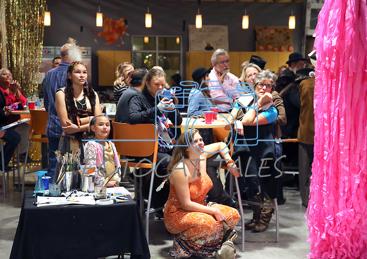 The audiences watch Heather Foltz perform with dozens of artists from around the state of Nevada demonstrated their crafts at the annual Capital Collage in Carson City, Nev., on Friday, October 27, 2017. <br /> Photo by Lance Iversen/Nevada Momentum