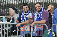 Piscataway, NJ, May 7, 2016. Sky Blue fans in the beer garden prior to the Sky Blue FC game. The Western New York Flash defeated Sky Blue FC, 2-1, in a National Women's Soccer League (NWSL) match at Yurcak Field.