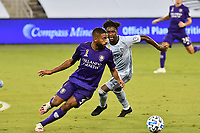 KANSAS CITY, KS - SEPTEMBER 23: Ruan #2 of Orlando City with the ball during a game between Orlando City SC and Sporting Kansas City at Children's Mercy Park on September 23, 2020 in Kansas City, Kansas.