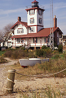 AJ3286, lighthouse, Wildwood, New Jersey, Hereford Inlet Lighthouse (victorian) ca. 1874 along the Atlantic coast in North Wildwood in the state of New Jersey.