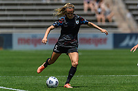 BRIDGEVIEW, IL - JUNE 5: Rachel Hill #5 of the Chicago Red Stars plays the ball during a game between North Carolina Courage and Chicago Red Stars at SeatGeek Stadium on June 5, 2021 in Bridgeview, Illinois.