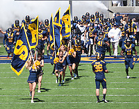 September 8, 2012: California Bears coming out of the tunnel before start of a game against Southern Utah at Memorial Stadium, Berkeley, Ca