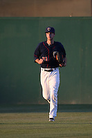 Kyle Tucker (31) of the Lancaster JetHawks heads to the dugout during a game against the Rancho Cucamonga Quakes at The Hanger on September 1, 2016 in Lancaster, California. Rancho Cucamonga defeated Lancaster, 6-3. (Larry Goren/Four Seam Images)
