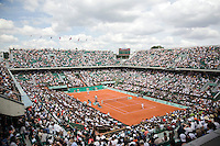 25-5-08, France,Paris, Tennis, Roland Garros, overall view centercourt