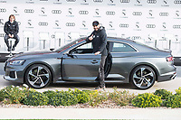 Karim Benzema of Real Madrid CF poses for a photograph after being presented with a new Audi car as part of an ongoing sponsorship deal with Real Madrid at their Ciudad Deportivo training grounds in Madrid, Spain. November 23, 2017. (ALTERPHOTOS/Borja B.Hojas) /NortePhoto.com NORTEPHOTOMEXICO