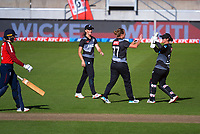 NZ's Sophie Devine celebrates dismissing Sarah Glenn during the 3rd international women's T20 cricket match between the New Zealand White Ferns and England at Sky Stadium in Wellington, New Zealand on Sunday, 7 March 2021. Photo: Dave Lintott / lintottphoto.co.nz