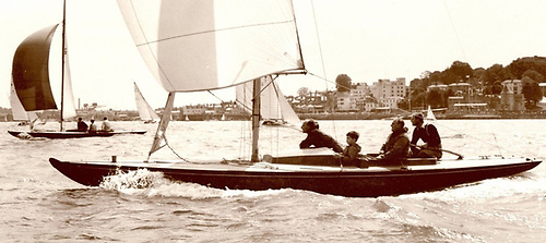 The Duke racing Bluebottle in Cowes Week, which he attended 48 times