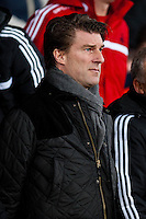 Sunday 05 January 2014<br /> Pictured: Michael Laudrup, Manager of Swansea City<br /> Re: Manchester Utd FC v Swansea City FA cup third round match at Old Trafford, Manchester