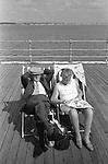 Senior couple Southend on Sea,  Essex. England 1974.