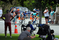 NZ's Adam Bull (State Of Matter / MAAP) leads the peleton midway through the Martinborough circuit. UCI Oceania Tour - NZ Cycle Classic stage two - Masterton to Martinborough circuit in Wairarapa, New Zealand on Thursday, 21 January 2016. Photo: Dave Lintott / lintottphoto.co.nz