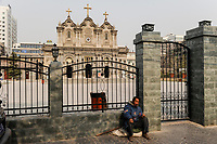 CHINA Province Shaanxi, Xian, catholic cathedral / CHINA Provinz Shaanxi , Xian, katholische Kathedrale