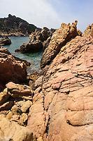 Porphyr-Felsen bei Costa Paradiso, Provinz Olbia-Tempio, Nord Sardinien, Italien