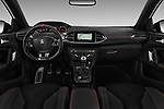 Stock photo of straight dashboard view of a 2018 Peugeot 308 GTi Base 5 Door Hatchback