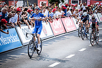 Alvaro Hodeg (COL/Deceuninck Quick Step) wins the sprint and beats Jasper Philipsen (BEL/UAE) and Rory Townsend (IRL/Canyon DHB) <br /> <br /> Heistse Pijl 2019<br /> One Day Race: Turnhout > Heist-op-den-Berg 194km (UCI 1.1)<br /> ©kramon