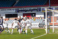 24th April 2021; Dens Park, Dundee, Scotland; Scottish Championship Football, Dundee FC versus Raith Rovers; Liam Fontaine of Dundee scores for 2-0 in the 34th minute