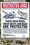 Restricted area sign on Bird Island, Marion, Massachusetts.