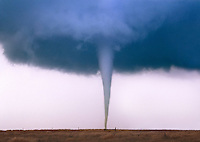 A classic Kansas twister is seen near Anthony Kansas on May 29th, 2004.