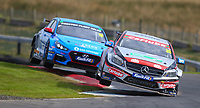 30th August 2020; Knockhill Racing Circuit, Fife, Scotland; Kwik Fit British Touring Car Championship, Knockhill, Race Day; Adam Morgan and Senna Proctor up on the curbs during round 10 of the BTCC