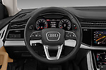 Car pictures of steering wheel view of a 2019 Audi Q8 - 5 Door SUV Steering Wheel