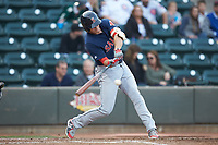 Bobby Dalbec (29) of the Salem Red Sox at bat against the Winston-Salem Dash at BB&T Ballpark on April 21, 2018 in Winston-Salem, North Carolina.  The Dash walked-off the Red Sox 4-3.  (Brian Westerholt/Four Seam Images)