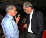 PIERLUIGI CIOCCA CON GIULIANO AMATO<br /> PREMIO LETTERARIO CAPALBIO 2003