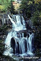 WF01-008a  Waterfall - Katahdin Falls, Baxter State Park, Maine