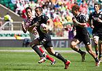 Sherwin Stowers. All Blacks Sevens beat Japan 26-14. 16 May 2015. Twickenham, London, England. Photo: Marc Weakley