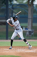 AZL White Sox left fielder Cabera Weaver (12) at bat during an Arizona League game against the AZL Dodgers at Camelback Ranch on July 7, 2018 in Glendale, Arizona. The AZL Dodgers defeated the AZL White Sox by a score of 10-5. (Zachary Lucy/Four Seam Images)