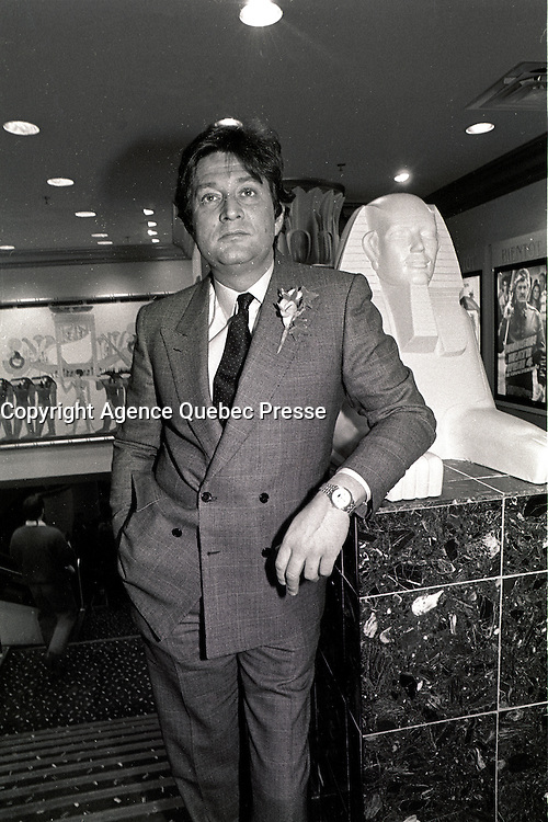 FILE PHOTO -  Garth Dabrinsky attend the opening of the Cineplex EGYPTIAN CINEMA at les Cours Mont-Royal, December 18, 1987.<br /> <br /> MANDATORY CREDIT <br /> PHOTO : Pierre Roussel - Agence Quebec Presse