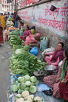 Kathmandu, Nepal.  Neighborhood Vegetable Market.