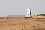 Burnham on Sea Somerset UK. The wooden lighthouse. Steep Holm in distance.