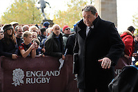 Steve Hansen, New Zealand Coach, arrives for the QBE Autumn International match between England and New Zealand at Twickenham on Saturday 16th November 2013 (Photo by Rob Munro)