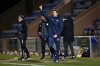 Exeter City manager Matt Taylor during Colchester United vs Exeter City, Sky Bet EFL League 2 Football at the JobServe Community Stadium on 23rd February 2021