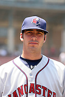 Zachary Grimmett #43 of the Lancaster JetHawks poses before a California League game against the Lakes Elsinore Storm at The Diamond on May 22, 2011 in Lake Elsinore, California.Photo by:  Bill Mitchell/Four Seam Images