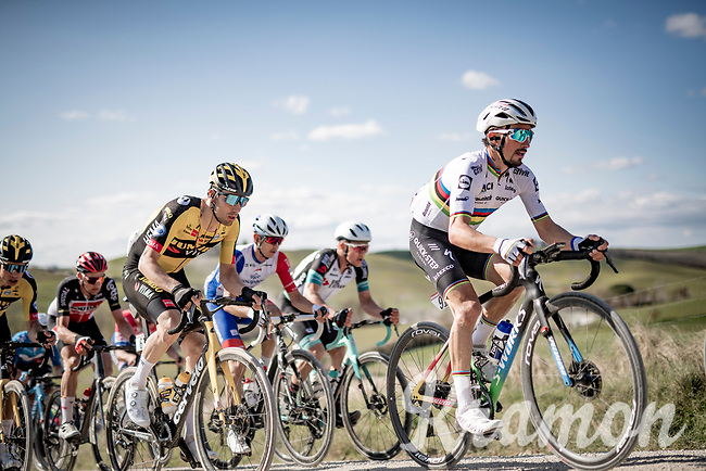 World Champion Julian Alaphilippe (FRA/Deceuninck - QuickStep)<br /> <br /> 15th Strade Bianche 2021<br /> ME (1.UWT)<br /> 1 day race from Siena to Siena (ITA/184km)<br /> <br /> ©kramon