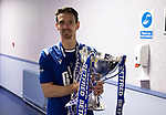 Livingston v St Johnstone …28.02.21   Hampden   BetFred Cup Final<br /> Craig Bryson pictured in the dressing room area after winning the BETFRED Cup<br /> Picture by Graeme Hart.<br /> Copyright Perthshire Picture Agency<br /> Tel: 01738 623350  Mobile: 07990 594431