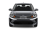 Car photography straight front view of a 2021 KIA Rio S 4 Door Sedan Front View