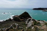 Blick vom Noirmont Point nach Westen, Insel Jersey, Kanalinseln