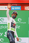 Egan Bernal (COL) Ineos Grenadiers retains the young riders White Jersey at the end of Stage 10 of La Vuelta d'Espana 2021, running 189km from Roquetas de Mar to Rincón de la Victoria, Spain. 24th August 2021.     <br /> Picture: Luis Angel Gomez/Photogomezsport   Cyclefile<br /> <br /> All photos usage must carry mandatory copyright credit (© Cyclefile   Luis Angel Gomez/Photogomezsport)