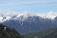 Blick auf die Alpen nahe Seefeld - Seefeld 26.05.2021: Trainingslager der Deutschen Nationalmannschaft zur EM-Vorbereitung