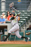 Miguel Rojas #23 of the Lynchburg Hillcats at bat during a game against the Myrtle Beach Pelicans at BB&T Coastal Field on May 26, 2010 in Myrtle Beach. Photo by Robert Gurganus/Four Seam Images.