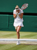 England, London, 28.06.2014. Tennis, Wimbledon, AELTC, Quarterfinal match between Lucie Safarova and Petra Kvitova, Pictured: Petra Kvitova (CZE) celebrates her win<br /> Photo: Tennisimages/Henk Koster
