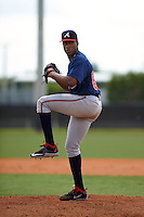 Atlanta Braves pitcher Zack Bird (89) during an instructional league game against the Houston Astros on October 1, 2015 at the Osceola County Complex in Kissimmee, Florida.  (Mike Janes/Four Seam Images)